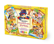 Quebra-Cabeça Progressivo Aventuras dos Piratas + 3 anos - Embalagem 30 x 21 x 6 cm.