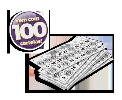Bingo 100 cartelas +5 anos