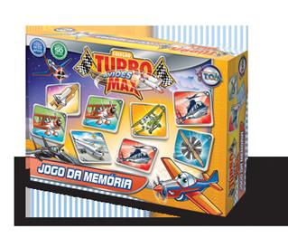 Jogo do Memória dos Aviões Turbo Max + 3 anos
