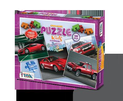 Puzzle Carros +7 anos - Embalagem 27 x 21 x 4 cm