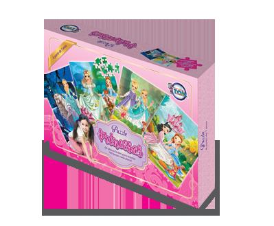 Puzzle das Princesas + 7 anos - Embalagem 30 x 21 x 6cm