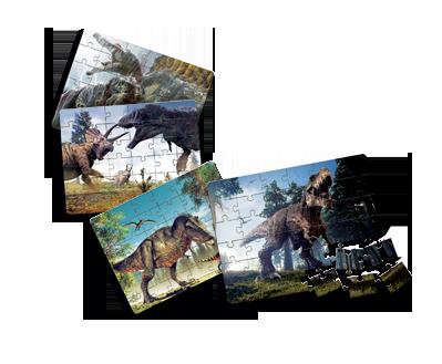 Puzzle dos Dinossauros + 7 anos - Embalagem 30 x 21 x 6cm