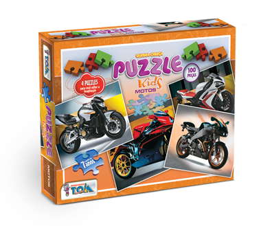 Puzzle Motos + 7 anos - Embalagem 27 x 21 x 4cm