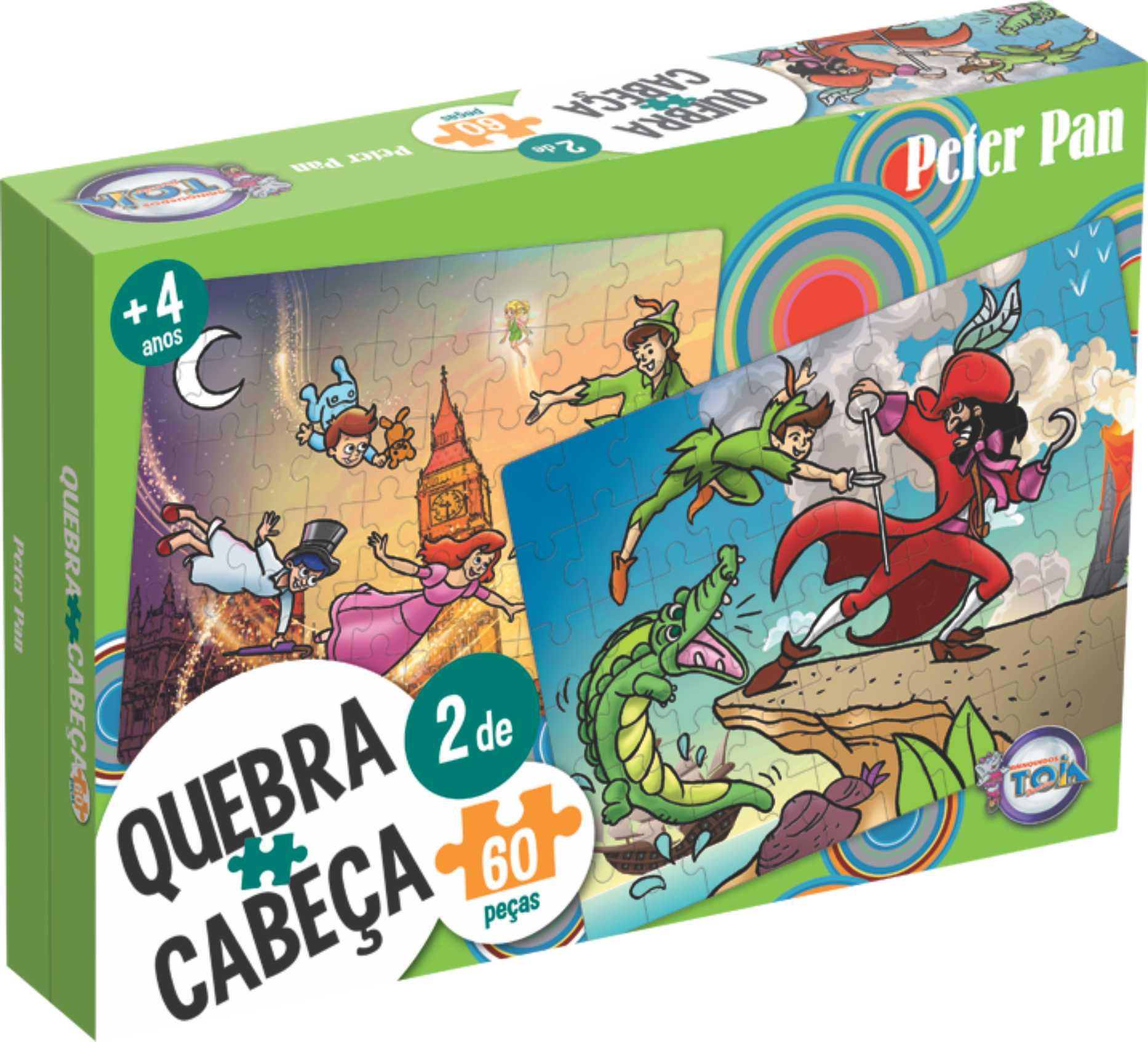 Puzzle Peter Pan - 60 Peças / idade + 4 anos.