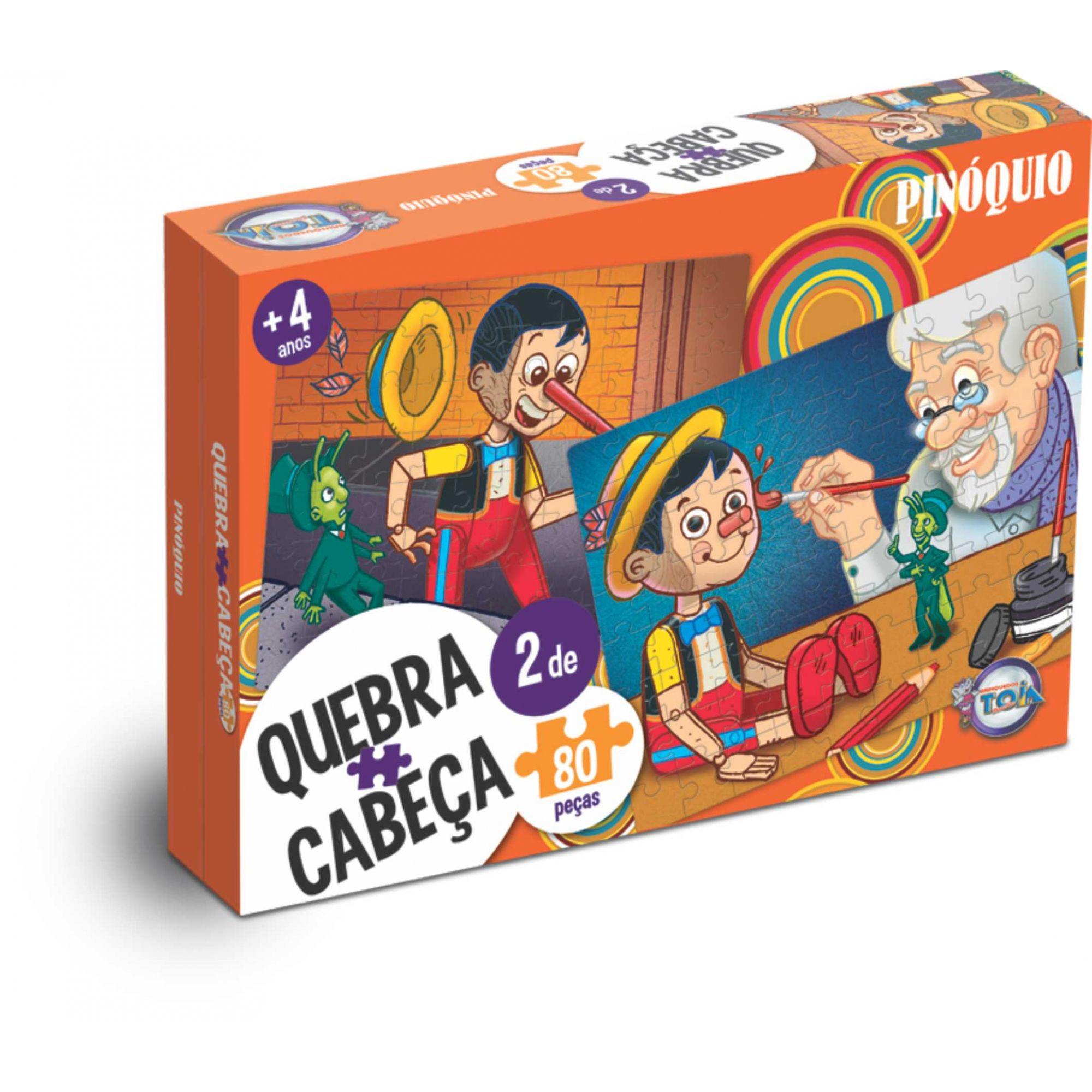 Puzzle Pinóquio - 80 peças / idade + 4 anos.