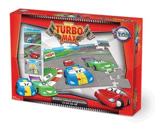 Quebra-Cabeça Progressivo Carros Turbo Max + 3 anos - Embalagem 30 x 21 x 6 cm.