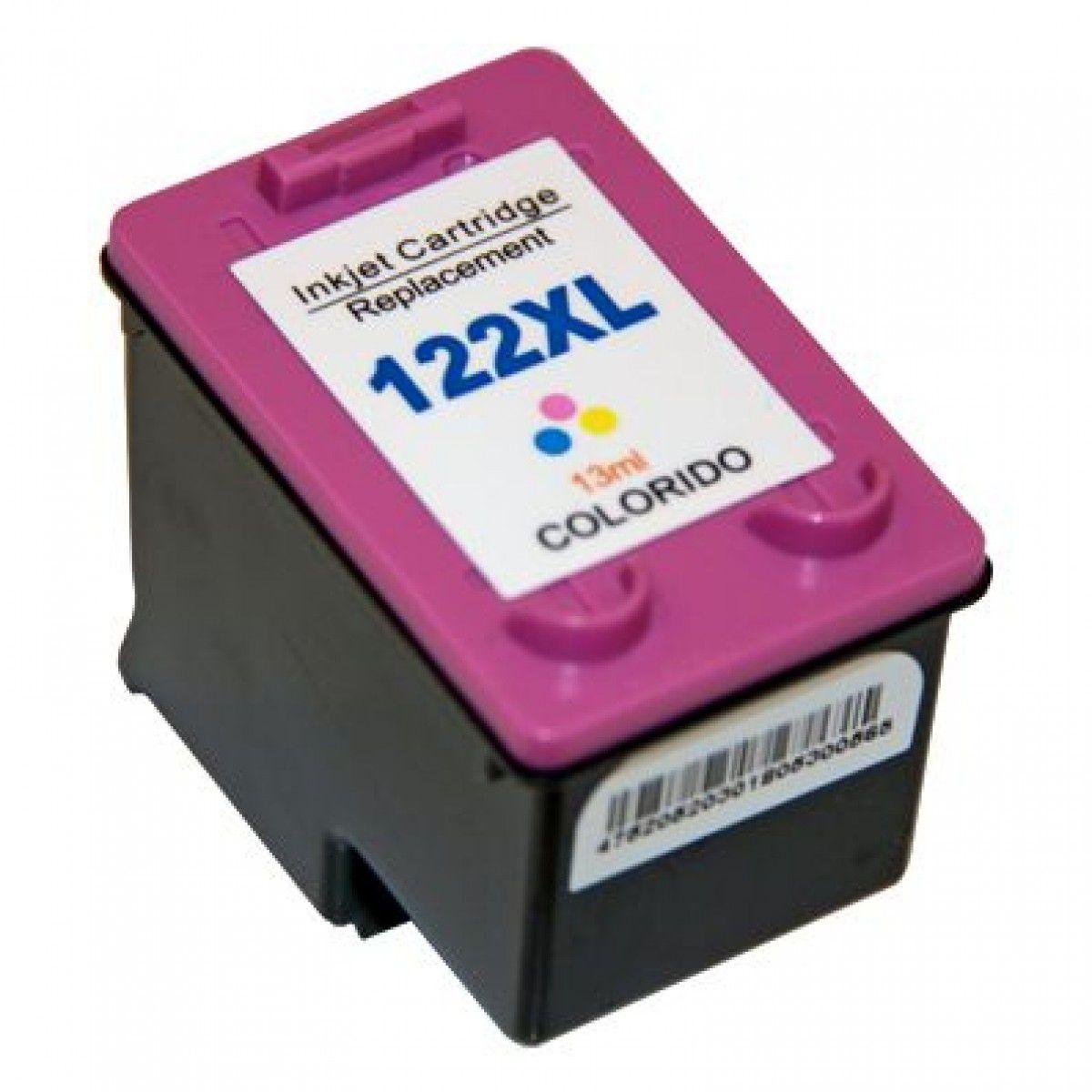 Cartucho HP 122 XL  P/1000/2050/3050 Colorido - Compativel