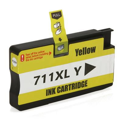 CARTUCHO HP 711 XL YELLOW - COMPATIVEL