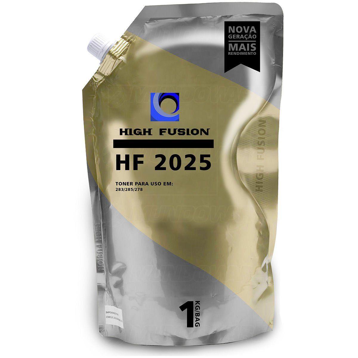 Pó HP High Fusion HF 2025 85A 35A 78a 83A P/ORIGINAIS BAG 1 KG