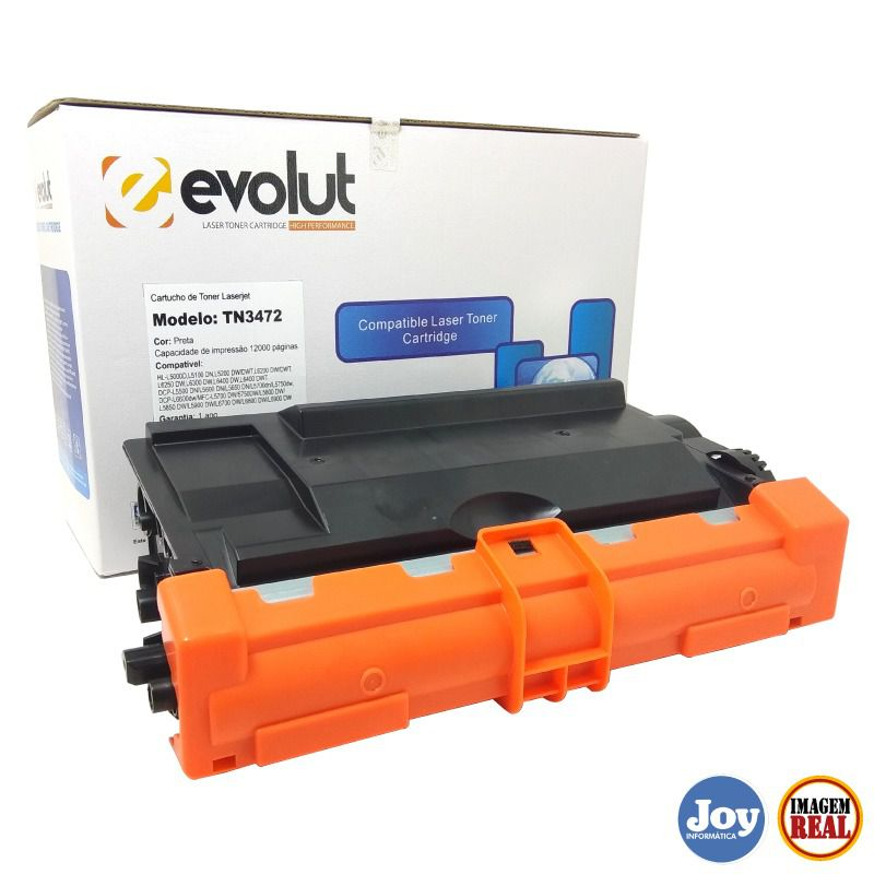 Toner Brother TN3472 3472 12k - Compatível Evolut