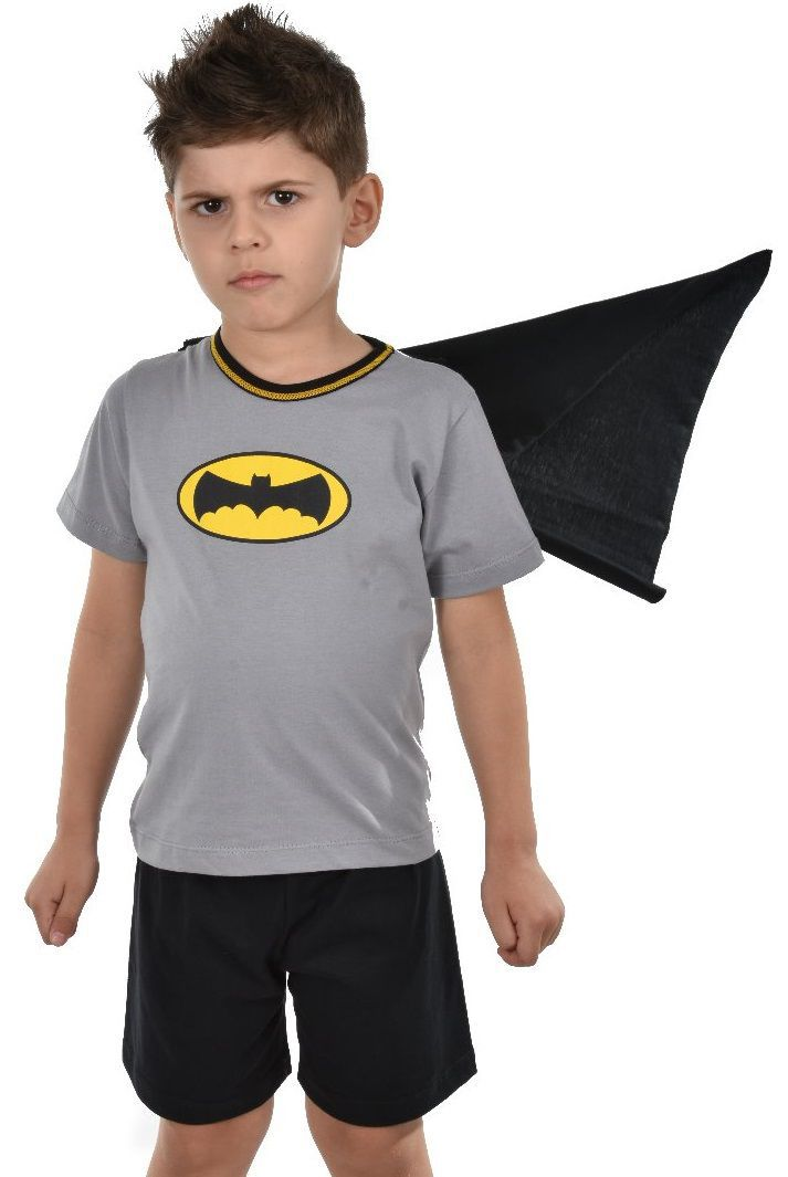 3075979cd Pijama Short Morcego com Manga Masculino Infantil Ravvivare