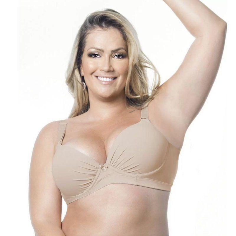 2159e6818 Sutiã Básico Plus Size com Bojo Nayane Rodrigues