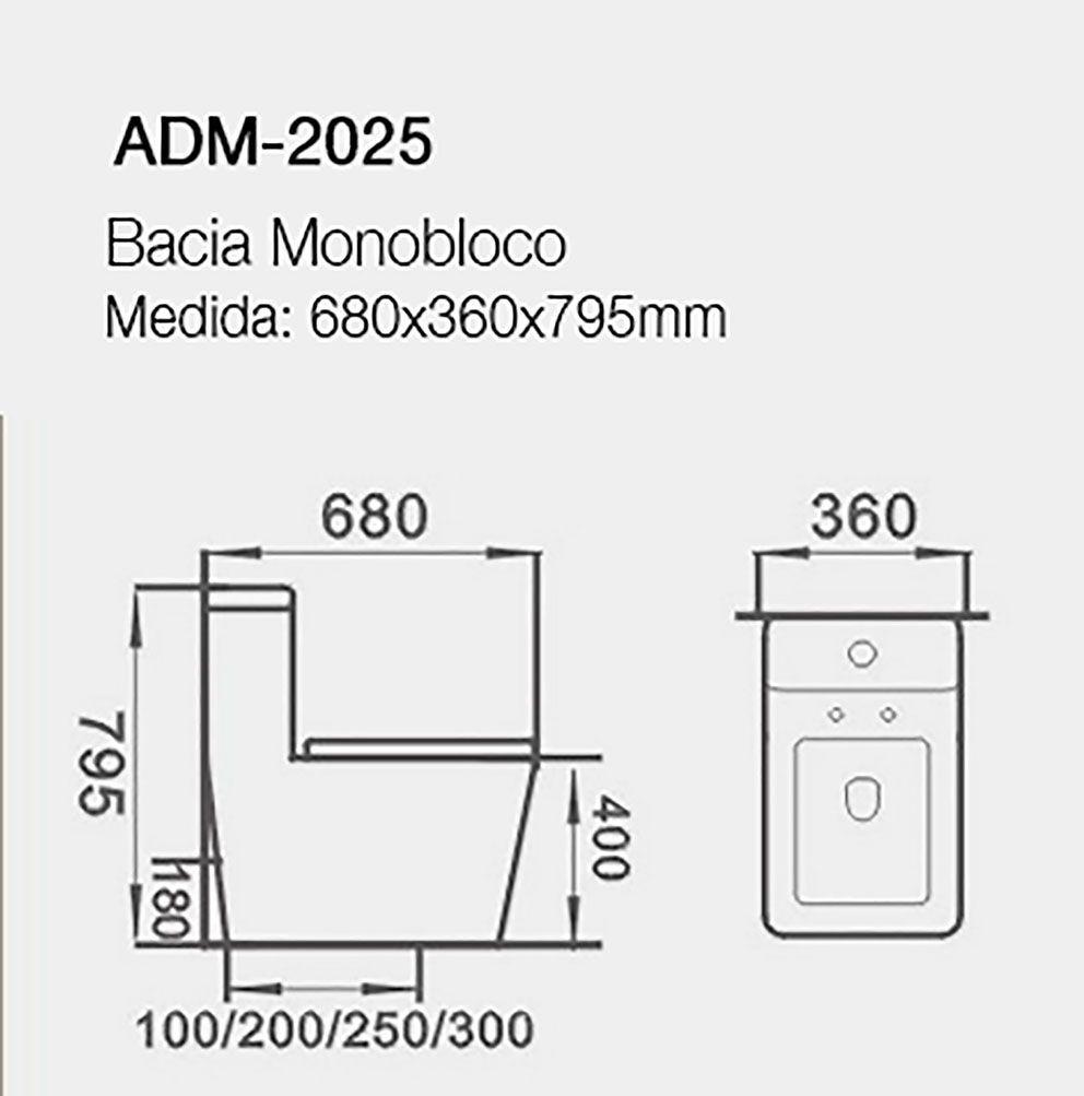 VASO SANITÁRIO CAIXA ACOPLADA ADAMAS ADM-2025