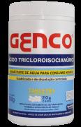 Pote com 900g - ÁCIDO TRICLOROISOCIANÚRICO EM TABLETES T-20 | CAIXA COM 12 UNIDADES