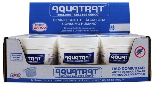 AQUATRAT TRICLORO TABLETES GENCO® | CAIXA COM 6 UNIDADES de 400g