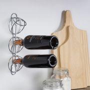 Adega Elos em aço carbono para 3 garrafas