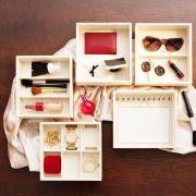 Organizador de objetos para gaveta Tria + organizador de objetos com duas divisórias