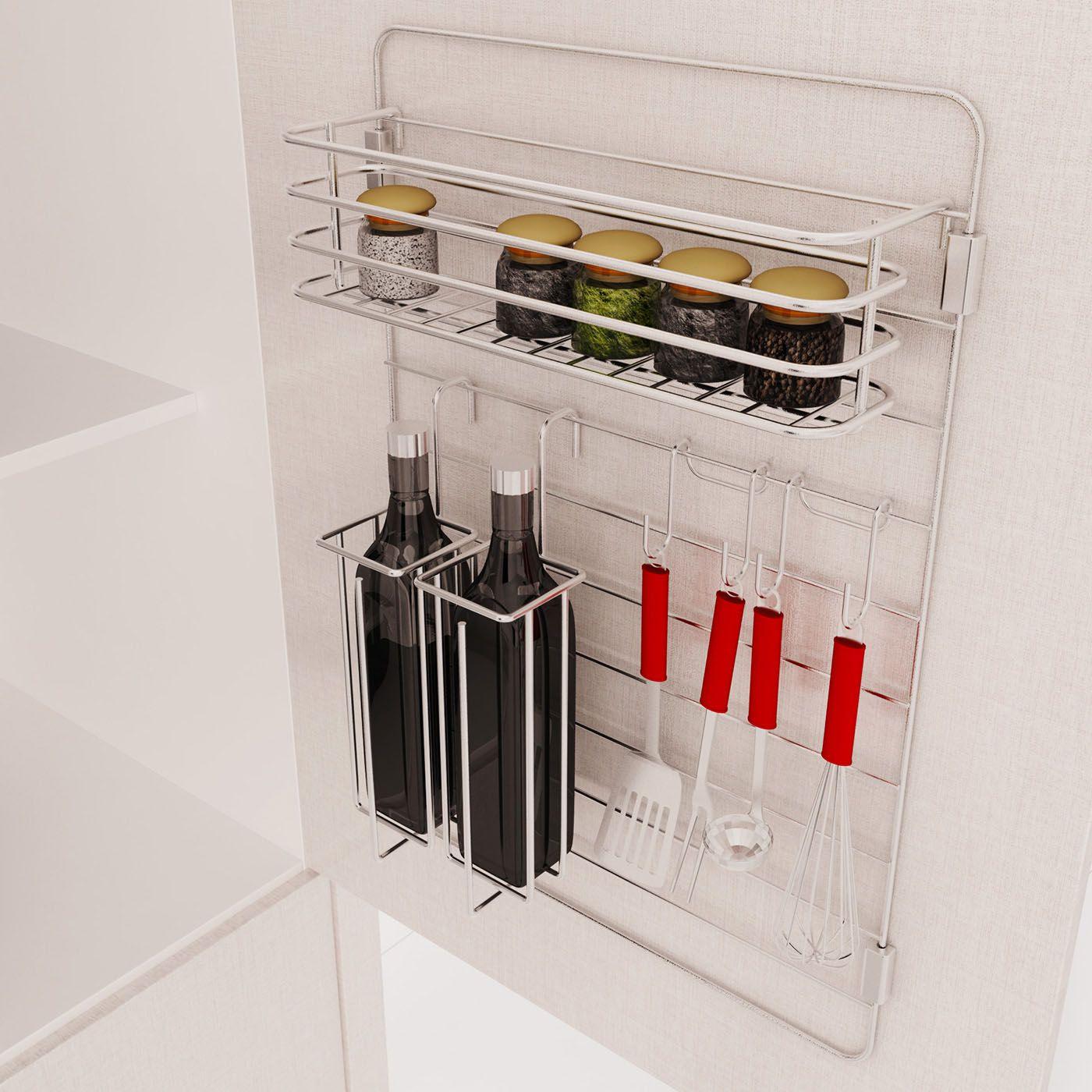 Aéreo Componível - Porta Condimentos, Porta Azeite duplo, Porta Talheres Duplo