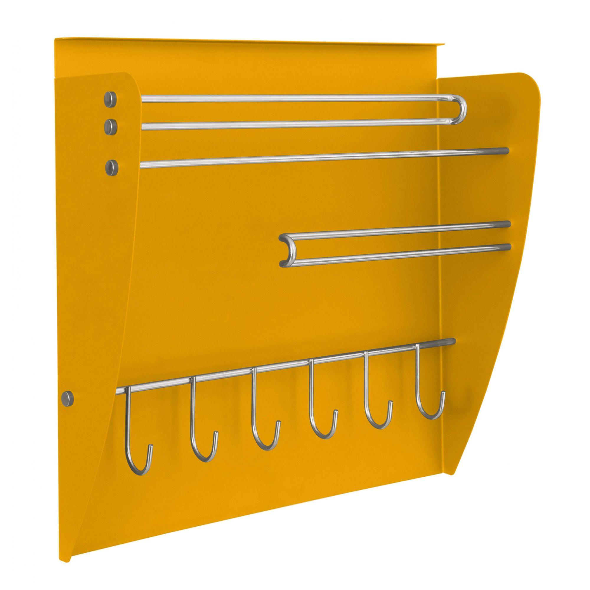 Nicho aéreo de cozinha Colors - Porta Rolos + Porta Condimentos - Masutti Copat