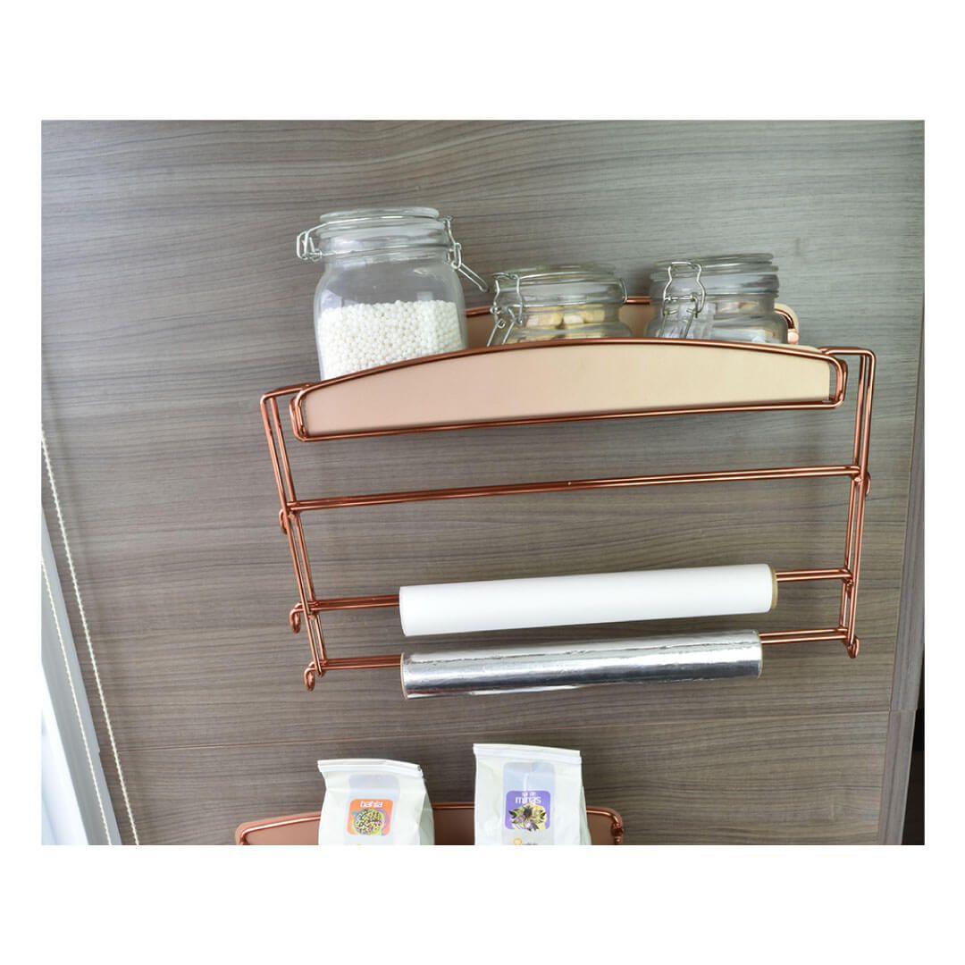 Porta condimentos com suporte para rolos Linha Colors