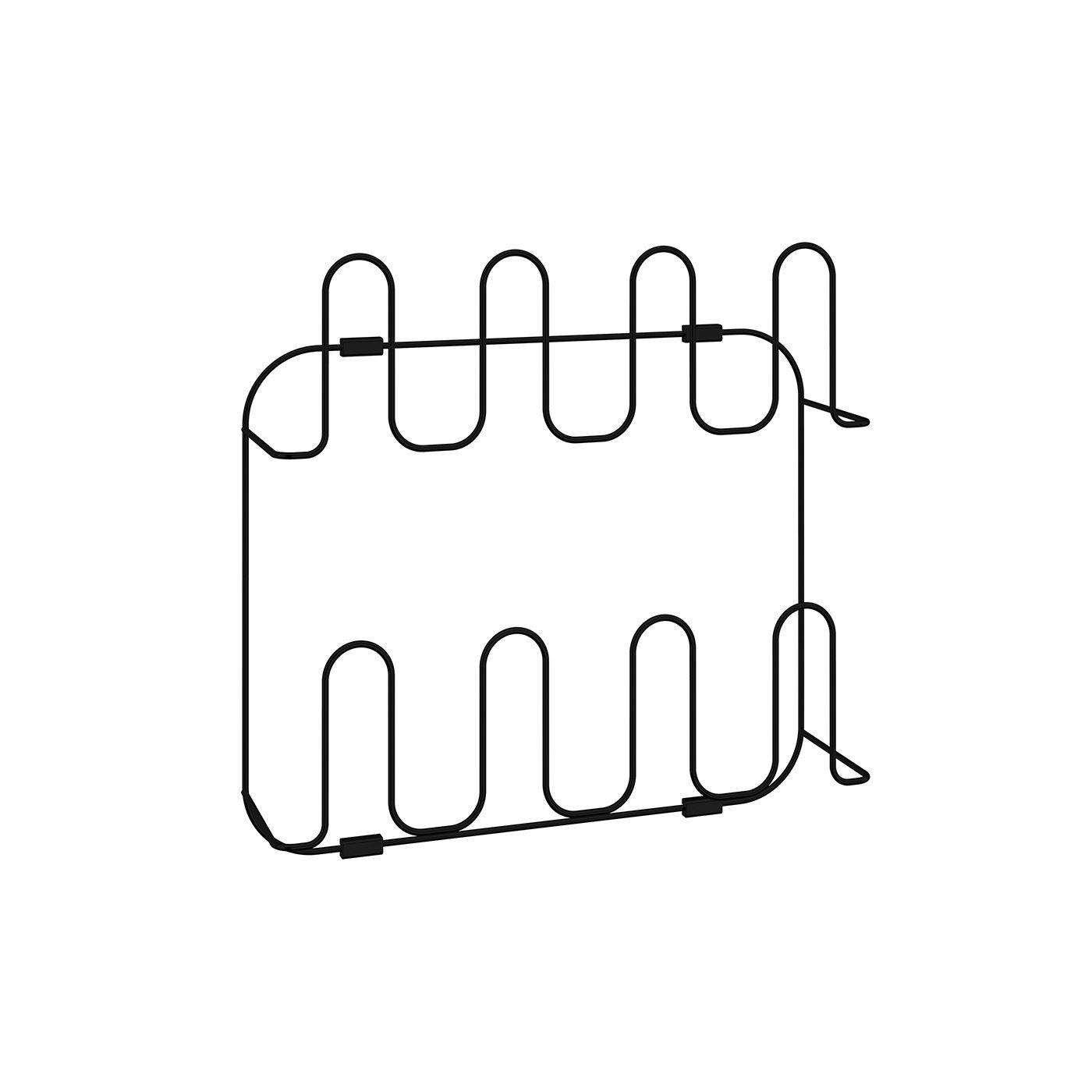 Sapateira Fixa Dupla Ohm em aço carbono