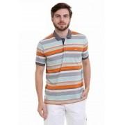 Camisa HIfen Polo Listrada Chambrey Jeans No Pato.