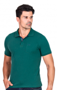 Camisa Polo Masculina Hifen Básica Verde