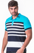 Camisa Polo Masculina Hifen Listrada