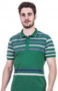 Camisa Polo Masculina Listrada Hifen Verde