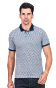 Camisa Polo Masculina Minimalista Cinza