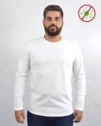 Camiseta Antiviral Na Cor Branca Masculina