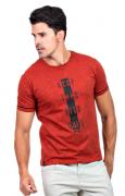Camiseta Básica Masculina com Estampa Hifen