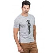 Camiseta Básica Masculina com Estampa Hifen Cinza