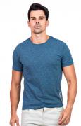 Camiseta Básica Masculina Hifen Azul Aço