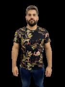 Camiseta Estampada Em Malha Preto