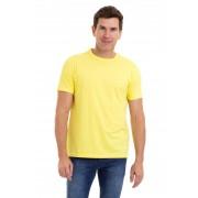 Camiseta Masculina 100% Algodão Super Premium, Na Cor Amarelo