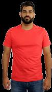 Camiseta Masculina 100% Algodão Super Premium, Na Cor Laranja