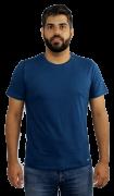 Camiseta Masculina 100% Algodão Super Premium, Na Cor Marinho