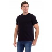Camiseta Masculina 100% Algodão Super Premium, Na Cor Preta