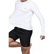 Camiseta Masculina Hifen com Proteção Solar UV 50+ - Manga Longa Cor Branco
