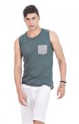 Camiseta Masculina Regata Hifen Verde
