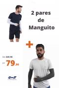 Kit 2 Manguitos Térmico Com Proteção Solar Branco + Cinza