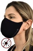 Máscara Antiviral Na Cor Preta Feminina