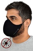 Máscara Antiviral Na Cor Preta Masculino
