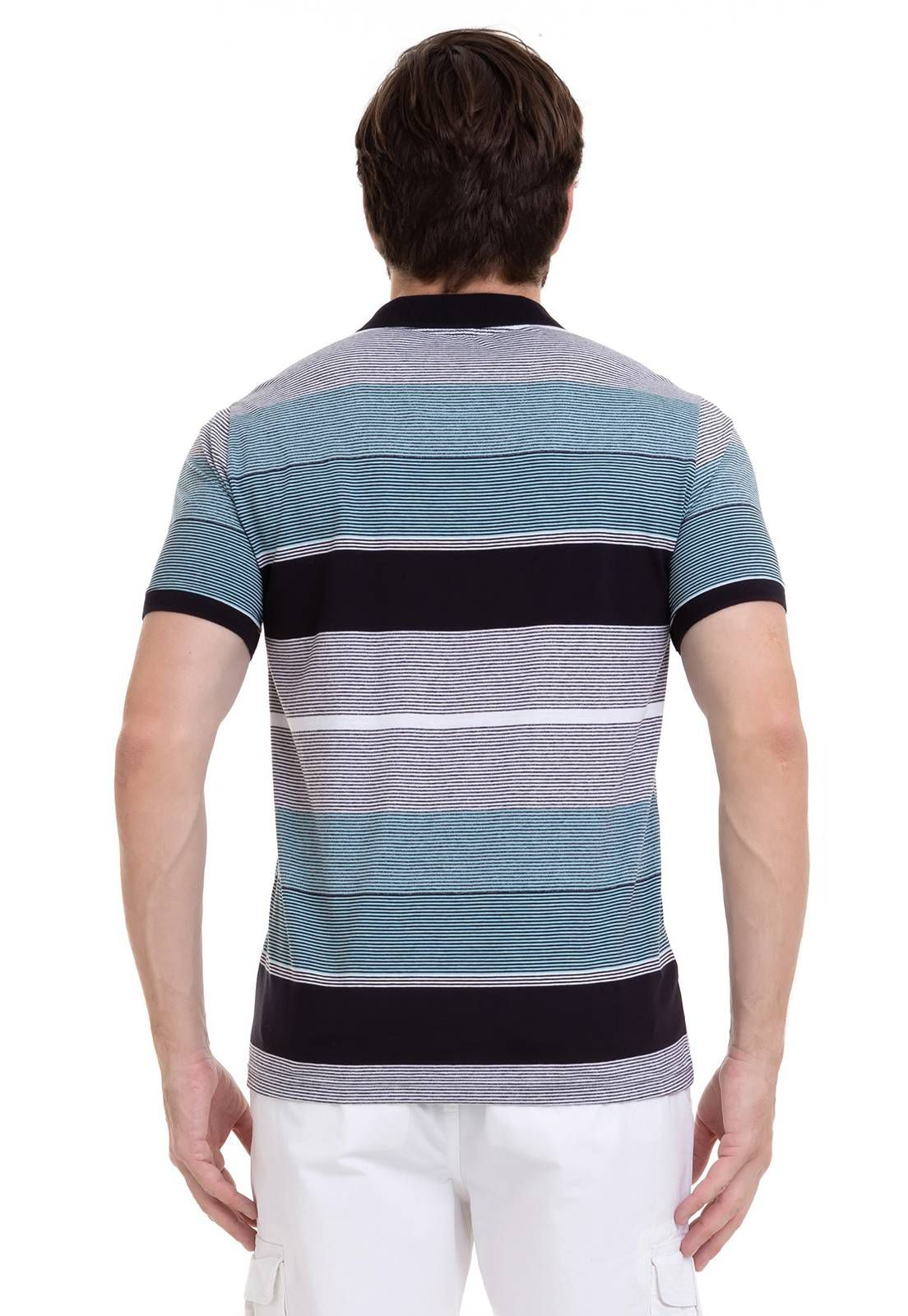 Camisa Hifen Polo listrada Verde