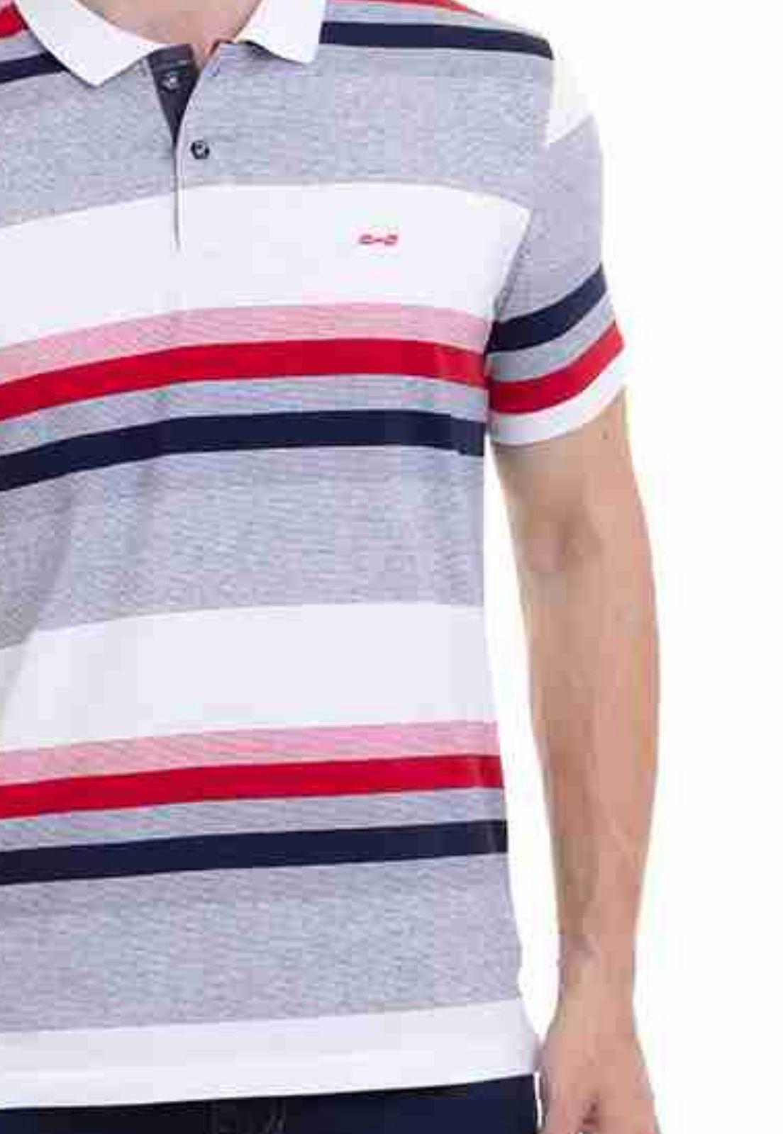 Camisa Polo Hifen Listrada Branca