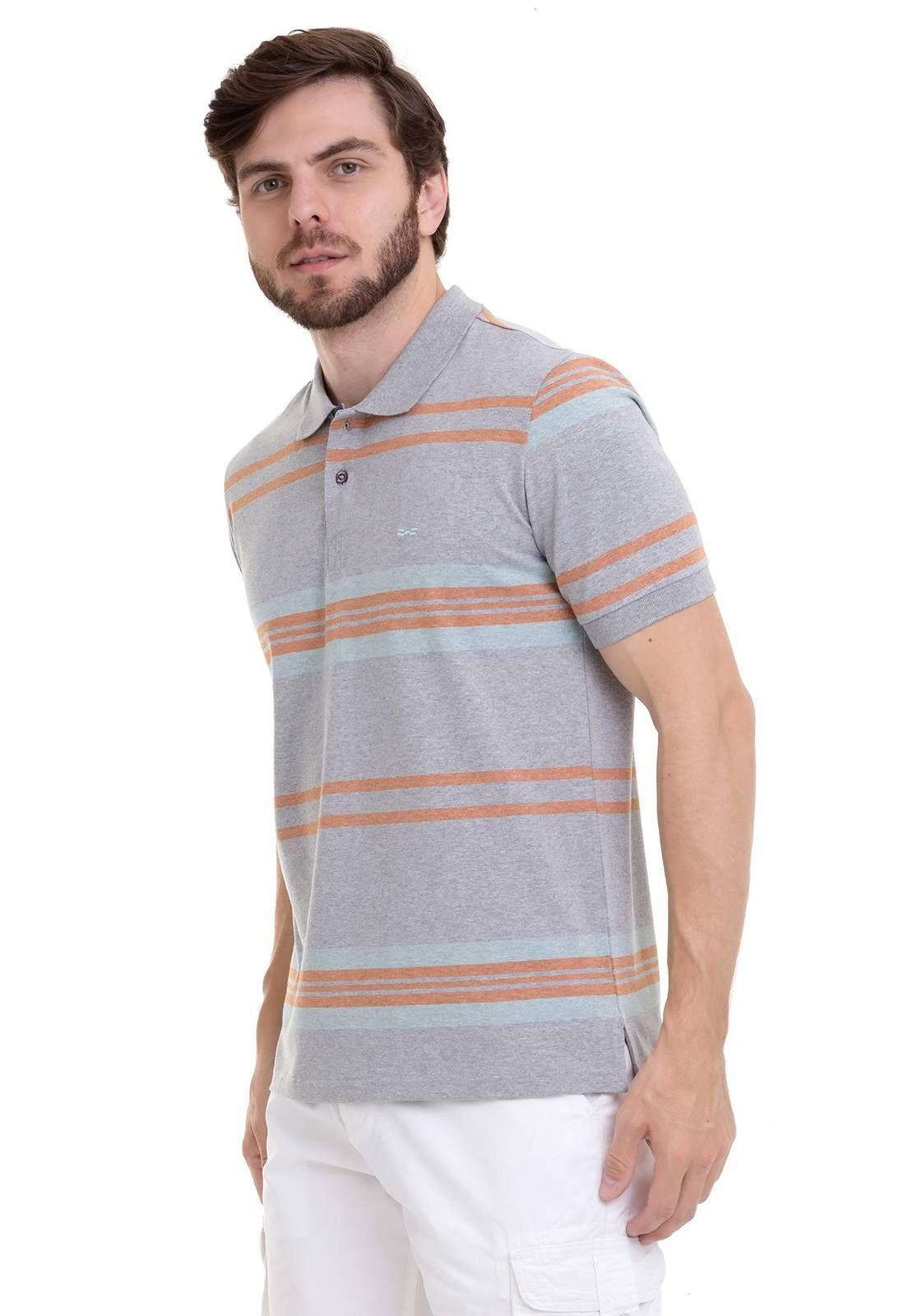 Camisa Polo Listrada Pato Em Chambrey