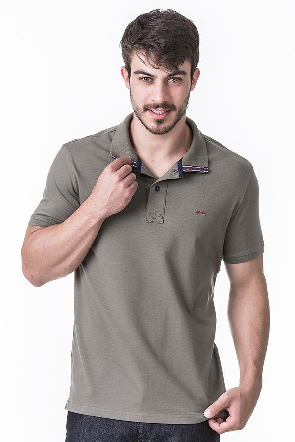 Camisa Polo Masculina Básica Hifen Verde