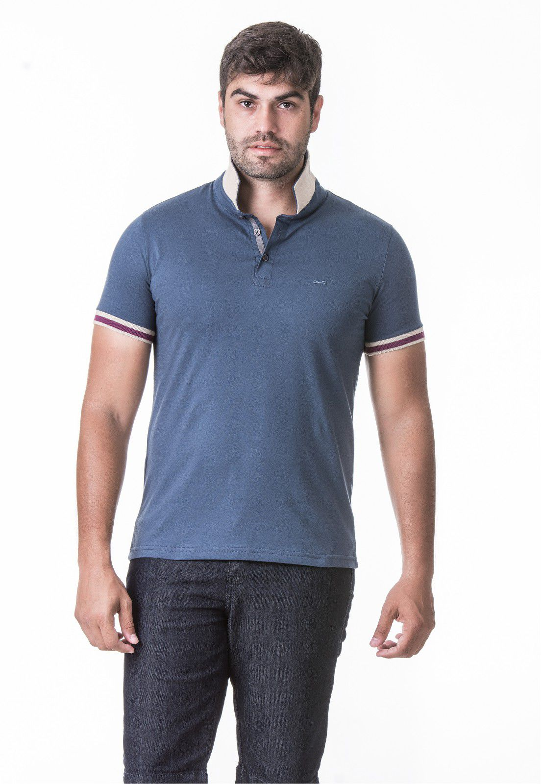 Camisa Polo Masculina Hifen com Gola Dupla