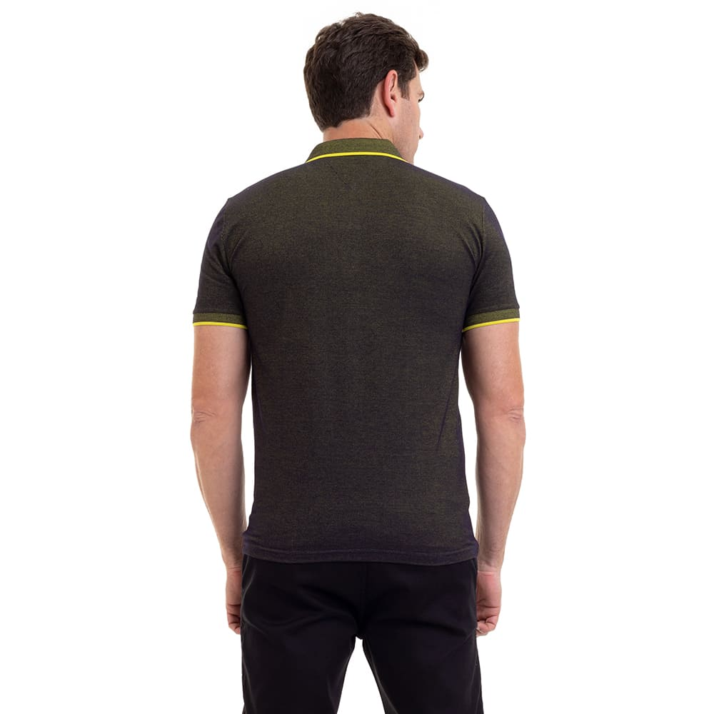 Camisa Polo Masculina Hifen Piquet Patô Amarelo